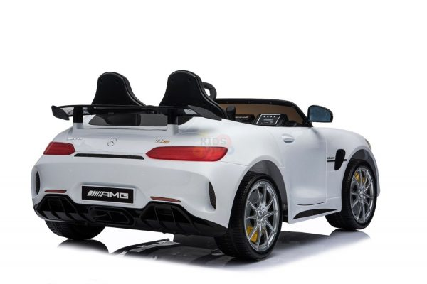 kidsvip mercedes benz gtr 2 seater kids and toddlers ride on car white 6
