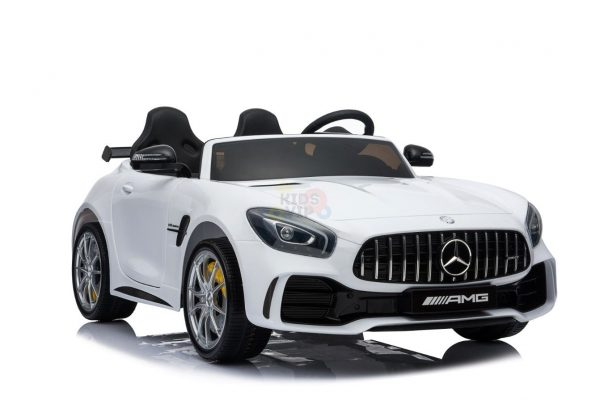 kidsvip mercedes benz gtr 2 seater kids and toddlers ride on car white 7