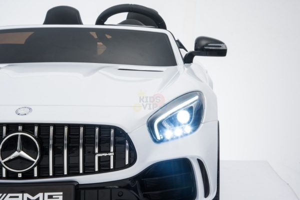 kidsvip mercedes benz gtr 2 seater kids and toddlers ride on car white 9