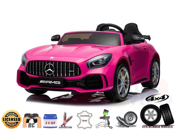 2 Seats 4WD Official Sport Mercedes Benz GTR 2X12V Kids Ride On Car with Leather,Eva, RC