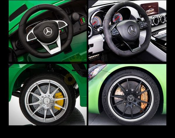 kidsvip mercedes benz gtr 2 seater kids and toddlers ride on car green 16