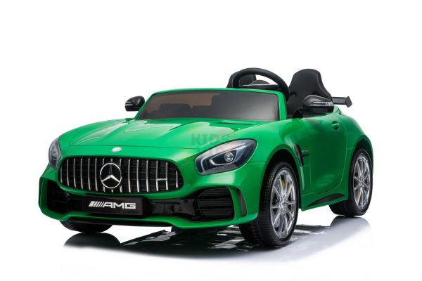 kidsvip mercedes benz gtr 2 seater kids and toddlers ride on car green 2