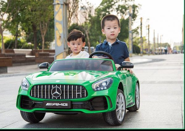 kidsvip mercedes benz gtr 2 seater kids and toddlers ride on car green 20