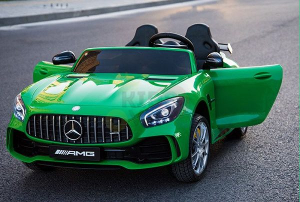 kidsvip mercedes benz gtr 2 seater kids and toddlers ride on car green 24