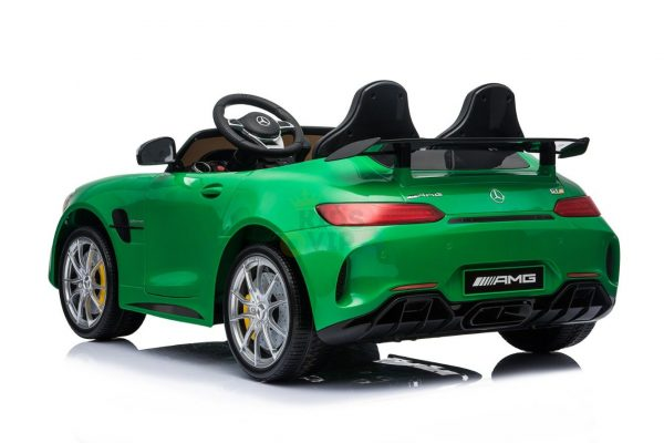 kidsvip mercedes benz gtr 2 seater kids and toddlers ride on car green 3