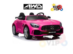 kidsvip mercedes benz gtr 2 seater kids and toddlers ride on car pink 17