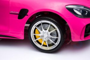 kidsvip mercedes benz gtr 2 seater kids and toddlers ride on car pink 7