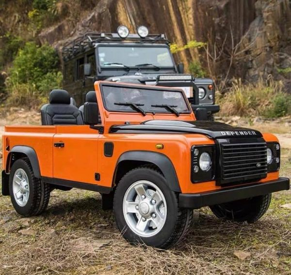 land rover defender kids toddlers ride on car truck rubber wheels leather seat kidsvip 2
