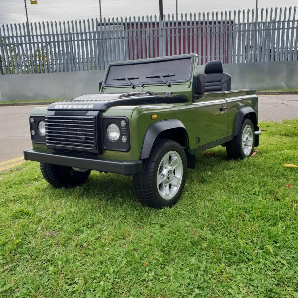 land rover defender kids toddlers ride on car truck rubber wheels leather seat kidsvip 5