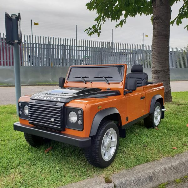 land rover defender kids toddlers ride on car truck rubber wheels leather seat kidsvip 7