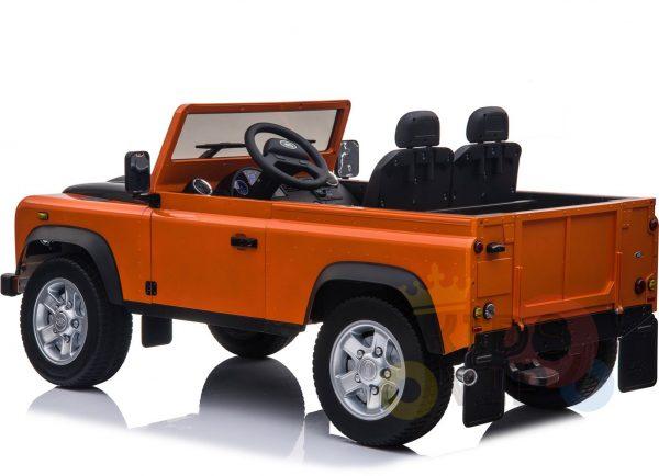 land rover defender kids toddlers ride on car truck rubber wheels leather seat kidsvip orange 10