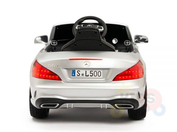 KIDSVIP MERCEDES SL500 KIDS RIDE ON CAR 12 toddlers powered car rubber wheels leather seat SILVER 1