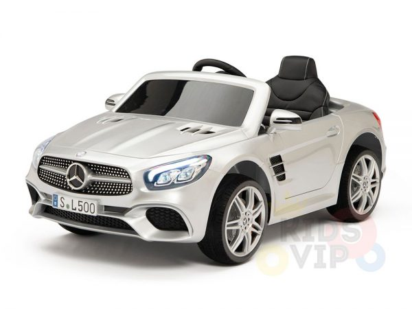 KIDSVIP MERCEDES SL500 KIDS RIDE ON CAR 12 toddlers powered car rubber wheels leather seat SILVER 10