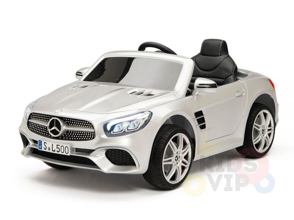 KIDSVIP MERCEDES SL500 KIDS RIDE ON CAR 12 toddlers powered car rubber wheels leather seat SILVER 11