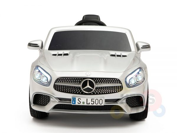 KIDSVIP MERCEDES SL500 KIDS RIDE ON CAR 12 toddlers powered car rubber wheels leather seat SILVER 14