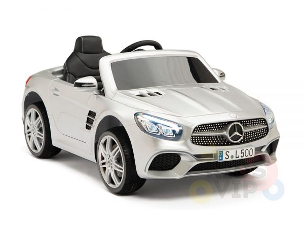 KIDSVIP MERCEDES SL500 KIDS RIDE ON CAR 12 toddlers powered car rubber wheels leather seat SILVER 17