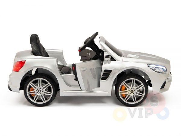 KIDSVIP MERCEDES SL500 KIDS RIDE ON CAR 12 toddlers powered car rubber wheels leather seat SILVER 23