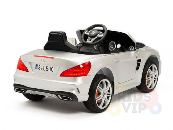 KIDSVIP MERCEDES SL500 KIDS RIDE ON CAR 12 toddlers powered car rubber wheels leather seat SILVER 25