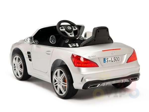 KIDSVIP MERCEDES SL500 KIDS RIDE ON CAR 12 toddlers powered car rubber wheels leather seat SILVER 6