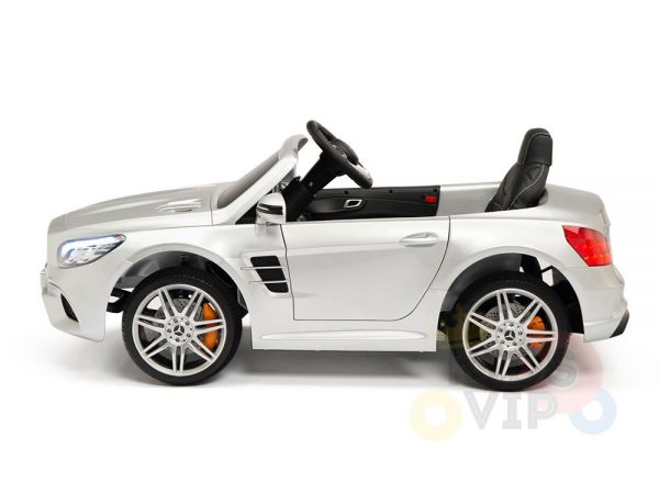 KIDSVIP MERCEDES SL500 KIDS RIDE ON CAR 12 toddlers powered car rubber wheels leather seat SILVER 8