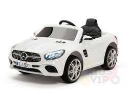 KIDSVIP MERCEDES SL500 KIDS RIDE ON CAR 12 toddlers powered car rubber wheels leather seat WHITE 1