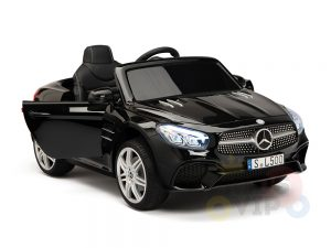 KIDSVIP MERCEDES SL500 KIDS RIDE ON CAR 12 toddlers powered car rubber wheels leather seat black 11