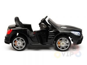 KIDSVIP MERCEDES SL500 KIDS RIDE ON CAR 12 toddlers powered car rubber wheels leather seat black 12