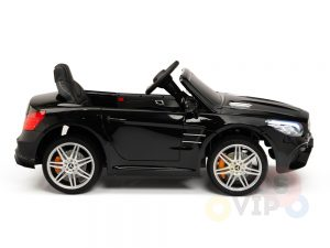 KIDSVIP MERCEDES SL500 KIDS RIDE ON CAR 12 toddlers powered car rubber wheels leather seat black 14
