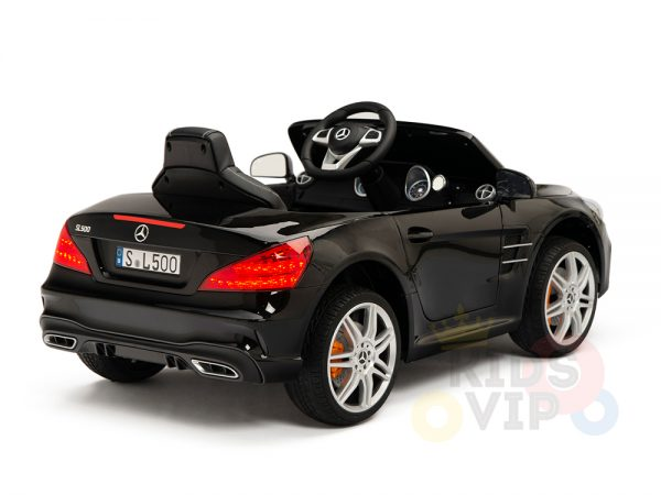 KIDSVIP MERCEDES SL500 KIDS RIDE ON CAR 12 toddlers powered car rubber wheels leather seat black 16