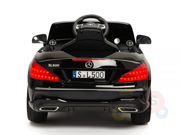 KIDSVIP MERCEDES SL500 KIDS RIDE ON CAR 12 toddlers powered car rubber wheels leather seat black 18