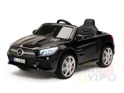 KIDSVIP MERCEDES SL500 KIDS RIDE ON CAR 12 toddlers powered car rubber wheels leather seat black 2