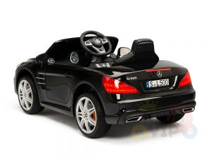 KIDSVIP MERCEDES SL500 KIDS RIDE ON CAR 12 toddlers powered car rubber wheels leather seat black 21