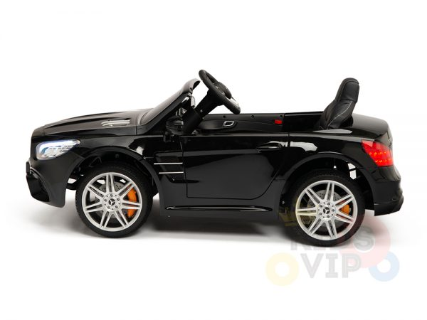 KIDSVIP MERCEDES SL500 KIDS RIDE ON CAR 12 toddlers powered car rubber wheels leather seat black 23