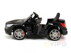 KIDSVIP MERCEDES SL500 KIDS RIDE ON CAR 12 toddlers powered car rubber wheels leather seat black 25