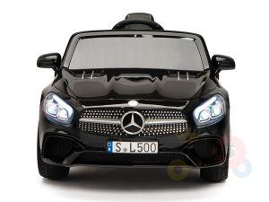 KIDSVIP MERCEDES SL500 KIDS RIDE ON CAR 12 toddlers powered car rubber wheels leather seat black 6