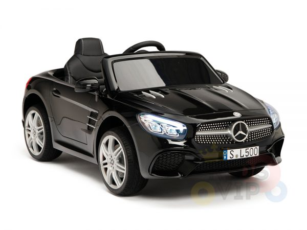 KIDSVIP MERCEDES SL500 KIDS RIDE ON CAR 12 toddlers powered car rubber wheels leather seat black 9