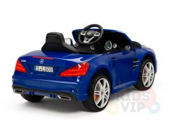 KIDSVIP MERCEDES SL500 KIDS RIDE ON CAR 12 toddlers powered car rubber wheels leather seat blue 1