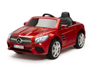 KIDSVIP MERCEDES SL500 KIDS RIDE ON CAR 12 toddlers powered car rubber wheels leather seat red 15