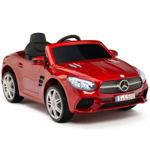 KIDSVIP MERCEDES SL500 KIDS RIDE ON CAR 12 toddlers powered car rubber wheels leather seat red 18