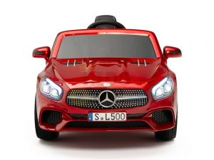 KIDSVIP MERCEDES SL500 KIDS RIDE ON CAR 12 toddlers powered car rubber wheels leather seat red 19