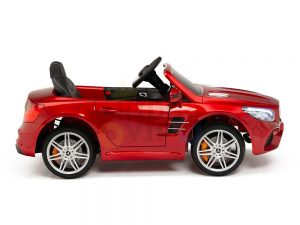 KIDSVIP MERCEDES SL500 KIDS RIDE ON CAR 12 toddlers powered car rubber wheels leather seat red 24