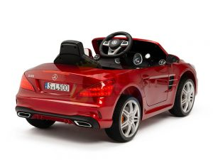 KIDSVIP MERCEDES SL500 KIDS RIDE ON CAR 12 toddlers powered car rubber wheels leather seat red 3