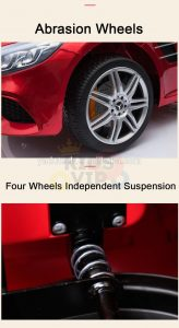 KIDSVIP MERCEDES SL500 KIDS RIDE ON CAR 12 toddlers powered car rubber wheels leather seat red 33