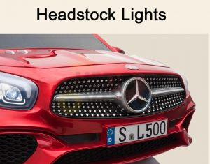 KIDSVIP MERCEDES SL500 KIDS RIDE ON CAR 12 toddlers powered car rubber wheels leather seat red 39