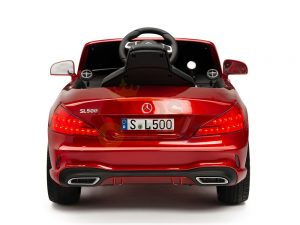KIDSVIP MERCEDES SL500 KIDS RIDE ON CAR 12 toddlers powered car rubber wheels leather seat red 5