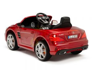 KIDSVIP MERCEDES SL500 KIDS RIDE ON CAR 12 toddlers powered car rubber wheels leather seat red 9