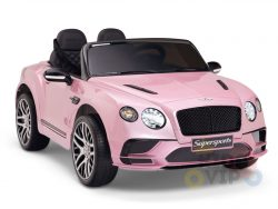 kidsvip pink ride on bentley kids and toddlers 12v car 2