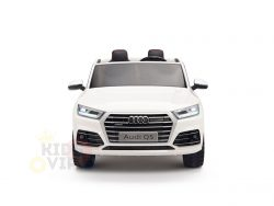 kidsvip 24v 2 seater audi q5 ride on car for kids and toddlers white 1