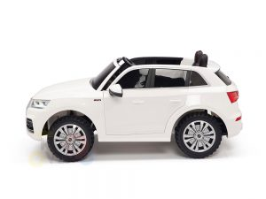 kidsvip 24v 2 seater audi q5 ride on car for kids and toddlers white 18