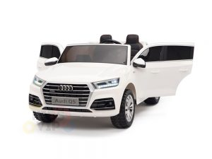 kidsvip 24v 2 seater audi q5 ride on car for kids and toddlers white 20